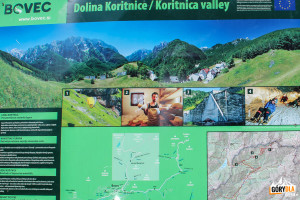 Tablicainformacyjna o Dolinie Koritnice w Log pod Mangartom