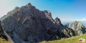 Widok z Mangartskiej Przełęczy (2055 m)