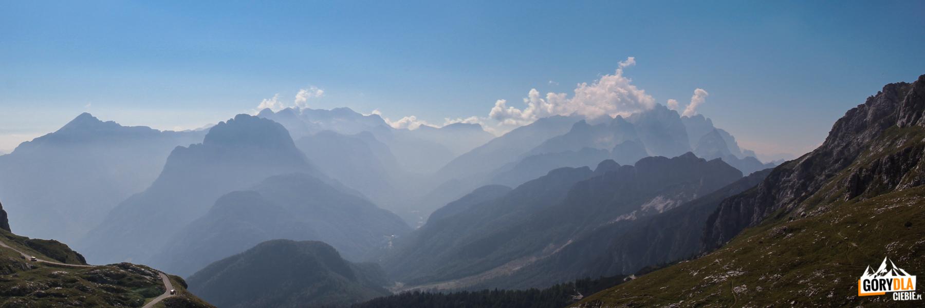 Panorama z Mangartskiej Drogi