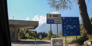 Przełęcz Predel (1156 m) pomiędzy Włochami, a Słowenią