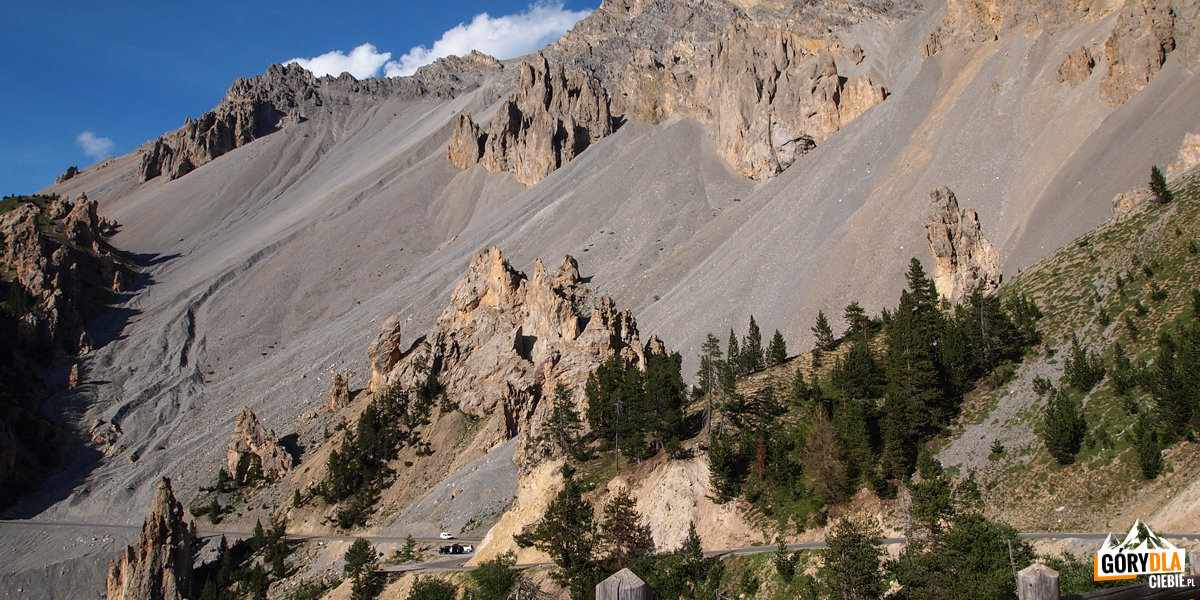 Widok z Przełęczy Izoard (Col d'Izoard 2361 m)