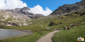 Nad jeziorem Lac Foréant (2618 m)