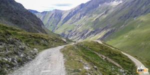 Zjazd z Przełęczy Sommeiller do Bardonecchii