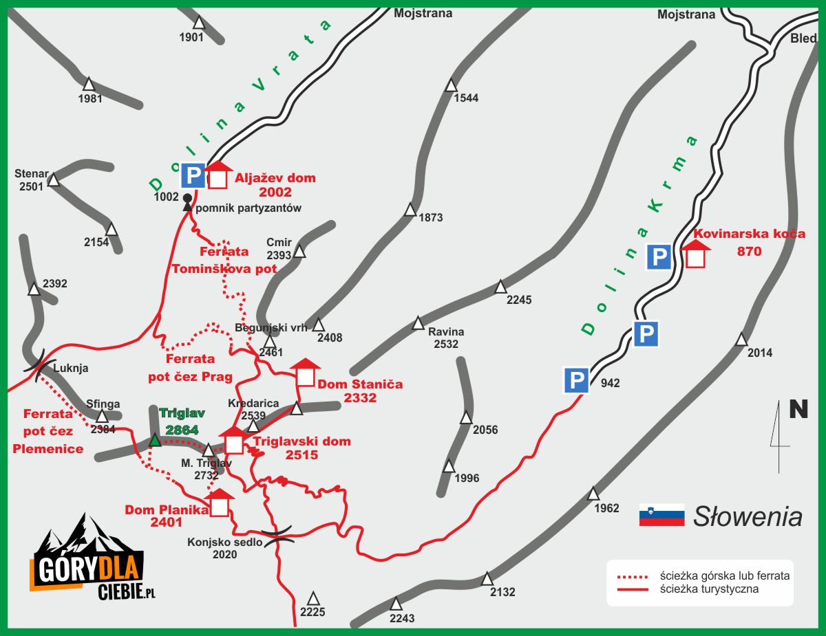 Triglav Mapa Gory Dla Ciebie Najciekawsze Wycieczki Gorskie