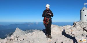 Na szczycie Triglav (2864 m)
