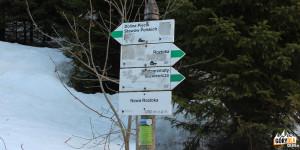 Drogowskazy na Nowej Roztoce