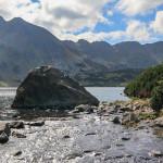 Wypływ potoku Roztoka z Wielkiego Stawu