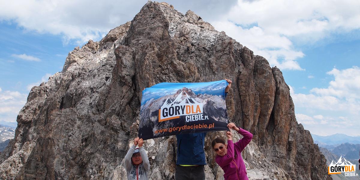 Na przełęczy pomiędzy wierzchołkami Grand Galibier - 3120 m