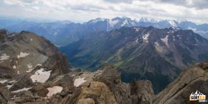 Widok ze szczytu Grand Galibier - 3228 m