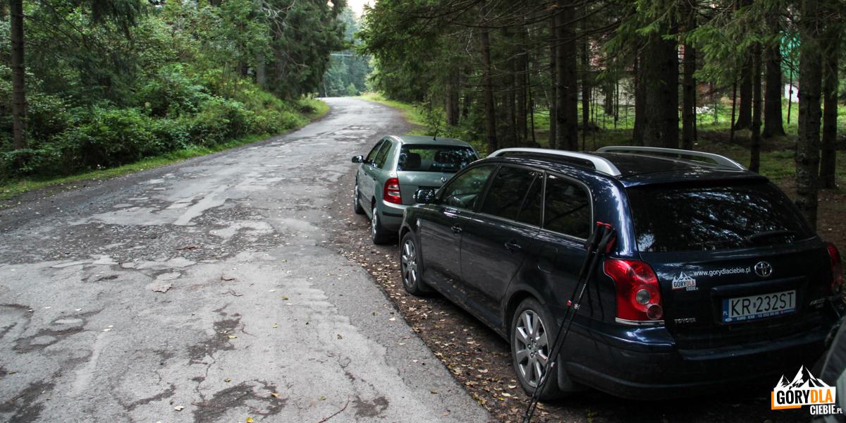 Przybylina - parking