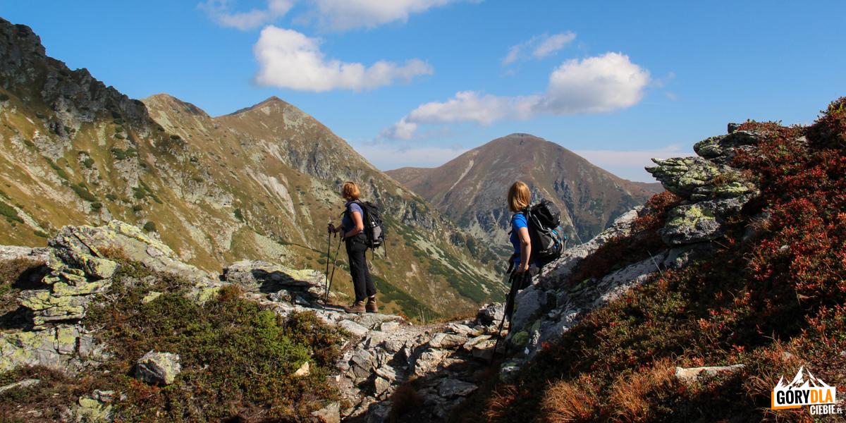 Na grani przed Niżną Magurą (1920 m) - widok na Raczkową Czubę (2194 m) i Starorobociański Wierch (2167 m)