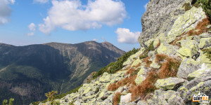 Widok z grani pod Niżną Magurą na Baraniec (2185 m) i Smrek (2071 m)