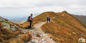 Grań pomiędzy Kończystym Wierchem (2002 m), a Jarząbczym Wierchem (2137 m)