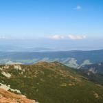 Widok z grani Przedniego Salatyna (1815 m) na Osobitą (1687 m)