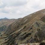 Dolina Głęboka i szczyty Salatyna widziane z grani pod Spaloną Kopą (2083 m)