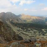 Widok na Salatyn (2048 m) i Brestowa (1934 m) spod Spalonej Kopy (2083 m)