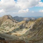 Głęboka Dolina, Spalona Kopa (2083 m), Szczyty Salatyna (2048 i 2046 m) i Brestowa (1934 m) widziane spod szczytu Pachoła (2167 m)