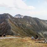 Widok ze szczytu Pachoła (2167 m) na grań Rohaczy