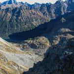 Dolinka za Mnichem, a niżej Morskie Oko i Czarny Staw