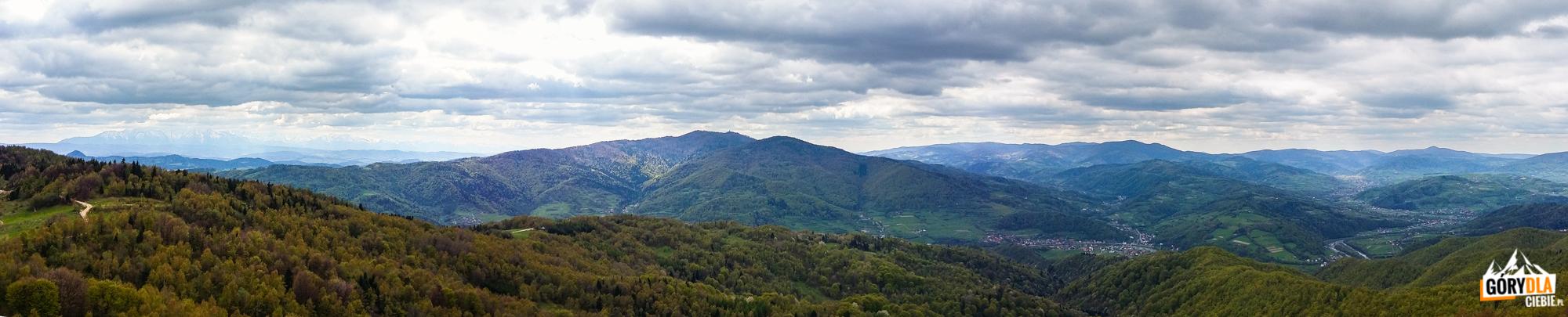 Panorama zKoziarza - Beskid Sądecki