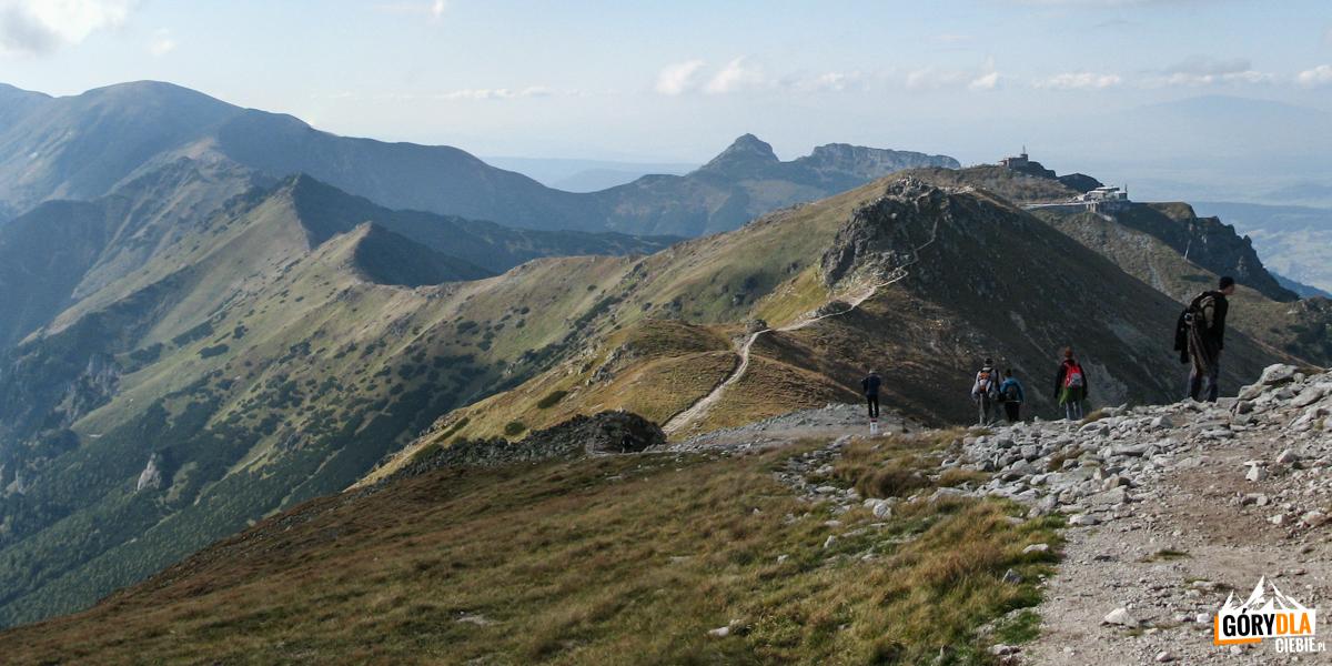 Widok ze Skrajnej Turni (2097 m) w kierunku Kasprowego Wierchu