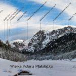 Panorama z Wielkiej Polany Małołąckiej w Dolinie Małej Łąki