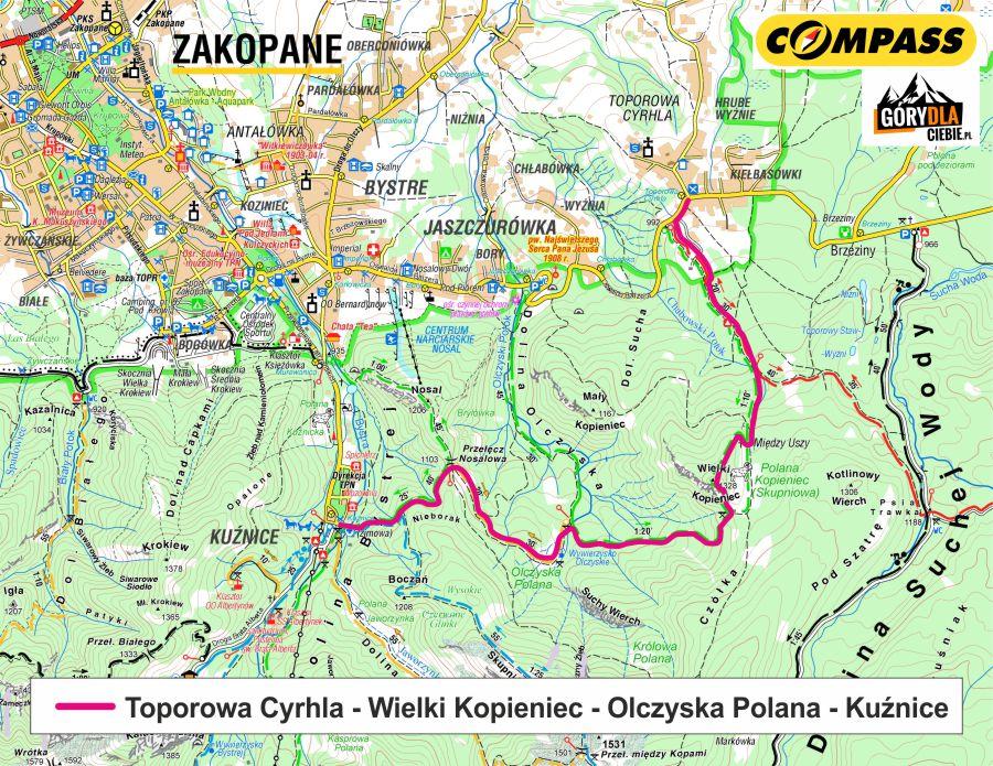 Kopieniec - mapa