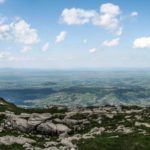 Widok z Ciemniaka na Babią Górę i Pilsko