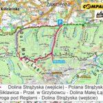 Z Doliny Strążyskiej do Doliny Małęj Łąki - mapa