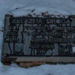 """Tablica upamiętniająca """"Żelazną Drogę"""" z Kościelisk do Kuźnic"""