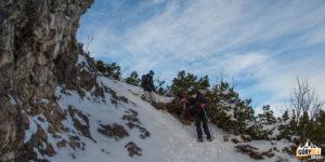 Zejście przez kosówki pod szczytem Sarniej Skały