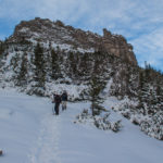 Zejście ze szczytu Sarniej Skały