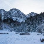 Bufet turystyczny na Polanie Strążyskiej, u góry Giewont