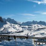 Val Gardena widok w kierunku Passo di Sella