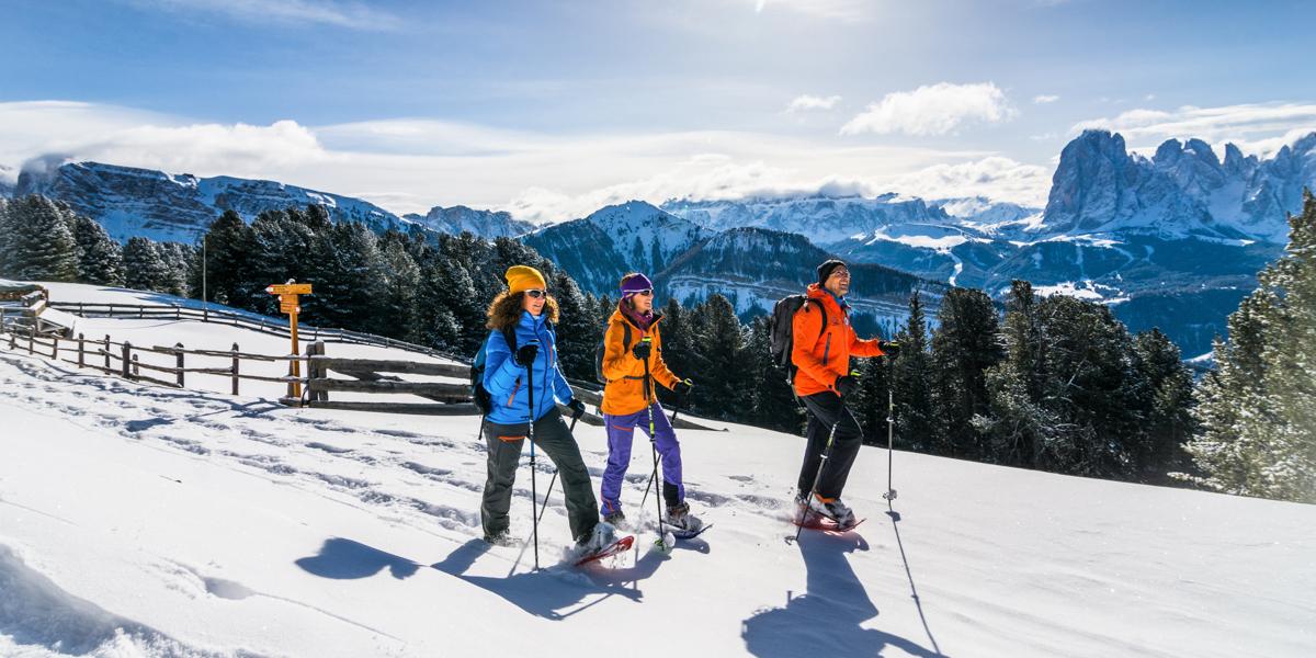 Wyprawa narakietach śnieżnych wrejonie Val Gardena