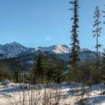 Lodowy Szczyt (2627 m) i Szeroka Jaworzyńska (2210 m) widziane z drogi z Wierch Porońca na Rusinową Polanę