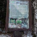 Tablica ścieżki przyrodniczej - wodospad