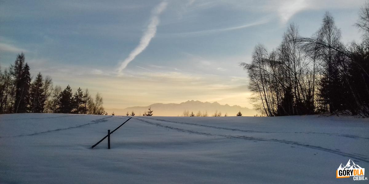 Zachód słońca nadPrzełęczą Snozka