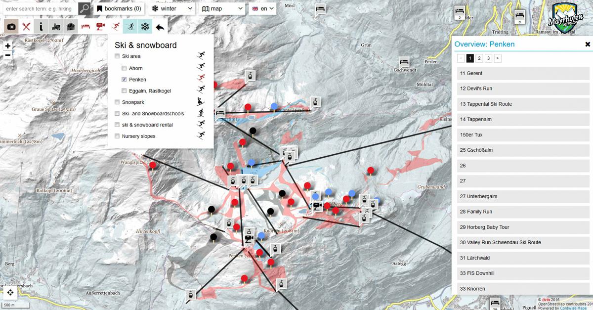 Mayrhofen - mapa interaktywna