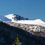 Kasprowy Wierch widziany ze szczytu Gęsiej Szyi (1489 m)