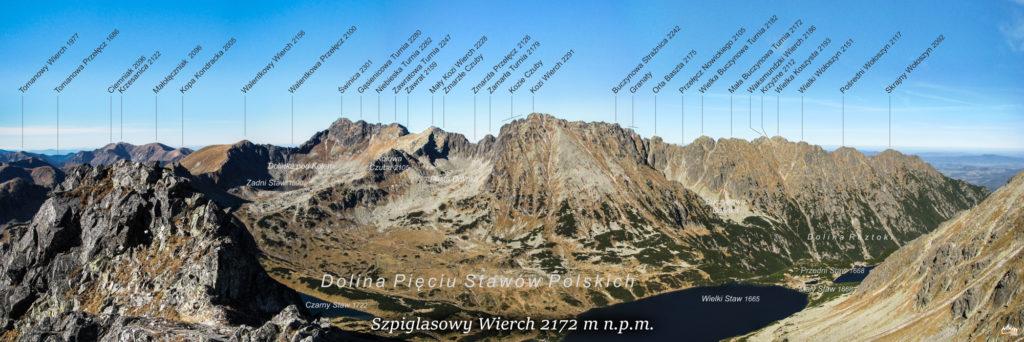 Szpiglasowy Wierch panorama