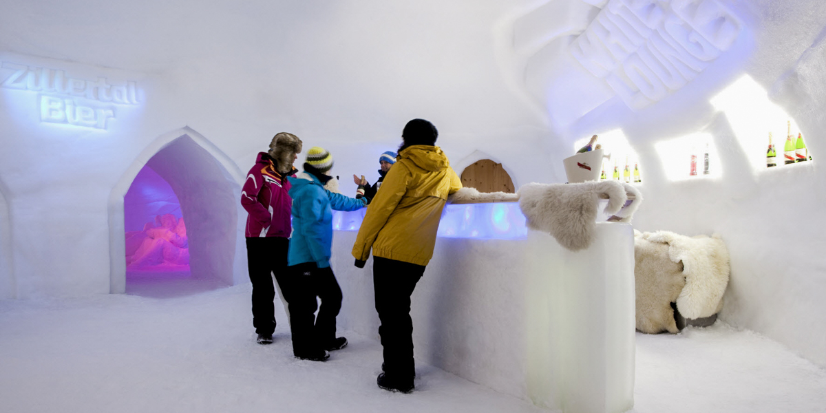 Mayrhofner Bergbahnen - White Loung - lodowy bar