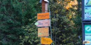 Wierchomla Wielka (530 m) - poczatek szlaków narciarskich na Halę Łabowską i Bacówkę nad Wierchomlą