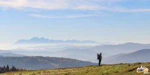 Przed Bacówką PTTK nad Wierchomlą (887 m)