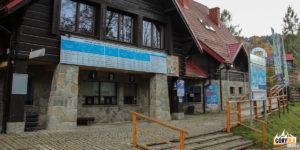 Budynek stacji narciarskiej w Wierchomli Małej