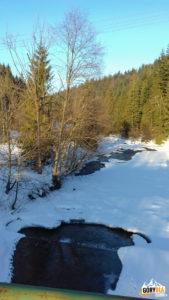 Rzeki - zamarznięta Kamienica