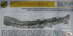 Tablica informacyjna GPN na Polanie Świnkówka