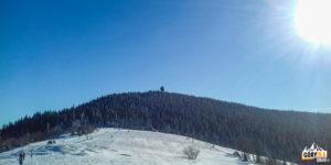 Widok zGorca Kamienickiego naszczyt Gorca (1228 m)