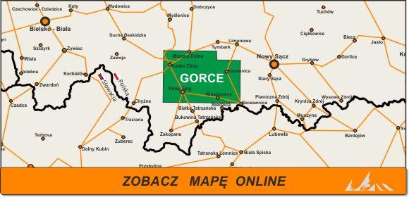 Mapa zakres Gorce