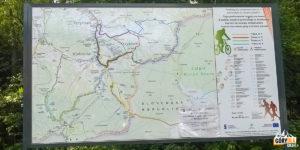 Mapa turystyczna okolic Korbielowa
